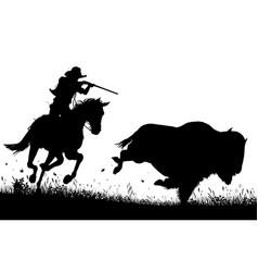 last bison vector image vector image