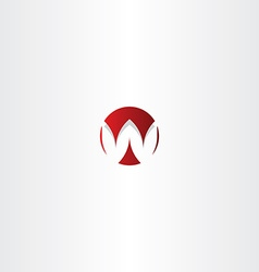 letter w red sign logo element vector image vector image