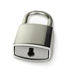 Metal lock vector image