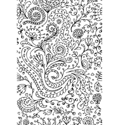 Ornamental floral seamless pattern for your design vector image