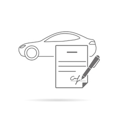 Signing contract vector image