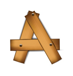wooden type a vector image vector image