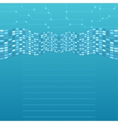 Abstract computer background vector image vector image