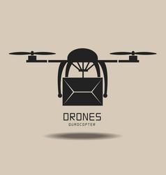 drones delivery logo vector image