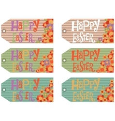 Easter tags set vector image vector image