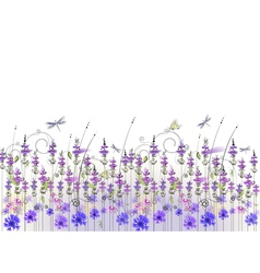 floral background of wildflowers vector image vector image