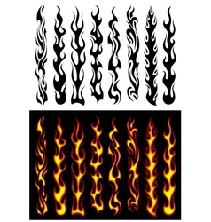 Tribal flames and elements vector