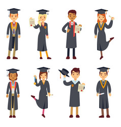 young college graduate and university students vector image vector image