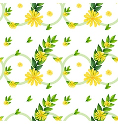 A template with yellow flowers vector image