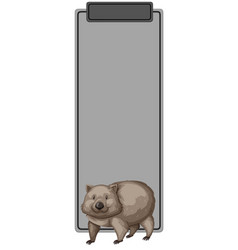 A wombat on blank template vector