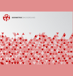 abstract red geometric triangle structure vector image