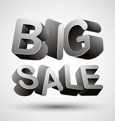 Big sale lettering vector image