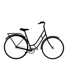 Black bicycle isolated on a white background vector