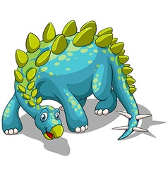 Blue dinosaur with spikes tail vector image