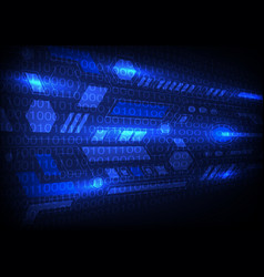 blue technology sci-fi background vector image