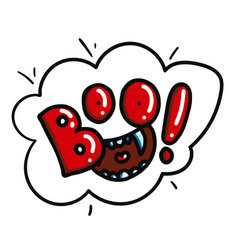 Boo funny sticker vector