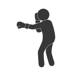 boxing man training gloves sport vector image
