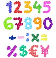 bubbles numbers vector image