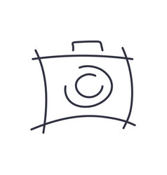 camera icon in trendy style camera symbol for vector image