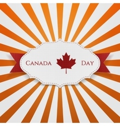 Canada Day Sign on realistic Emblem vector