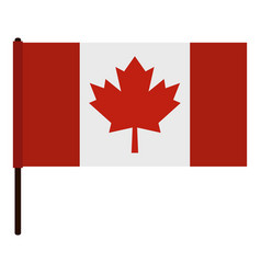 Canadian flag icon isolated vector