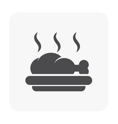 chicken plate icon vector image