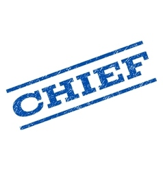 Chief Watermark Stamp vector