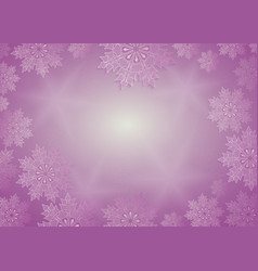 Christmas composition of purple hue with lovely vector