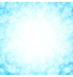 Christmas snowflakes and light background vector image