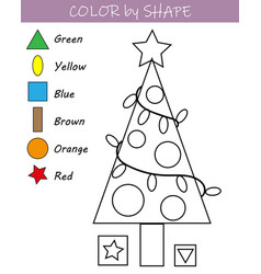 christmas-themed coloring page vector image