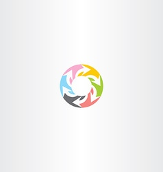 circle arrow colorful symbol sign vector image