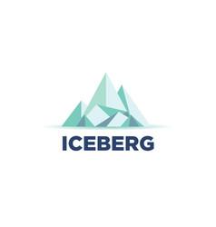 cool iceberg logo symbol vector image