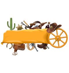 Cowboy banner vector
