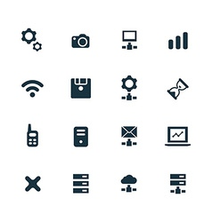 device icons set vector image