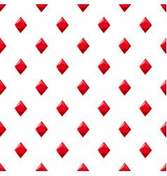Diamond suit plying card pattern vector