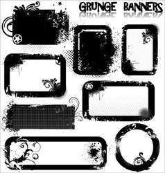 Empty Grunge banners vector image