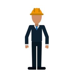 Engineer avatar full body vector