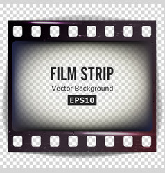 Film strip frame strip blank scratched vector