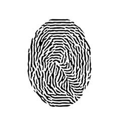 Fingerprint black isolated fingerprint on vector
