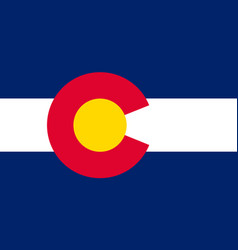 Flag of colorado usa vector