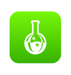 flask icon green vector image