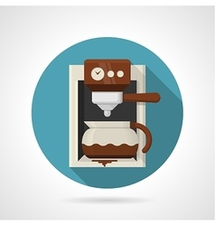 Flat color icon for coffee machine vector image