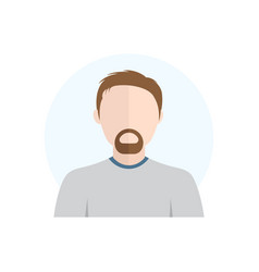 flat style character avatar icon vector image