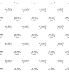 fruit salat icon outline style vector image
