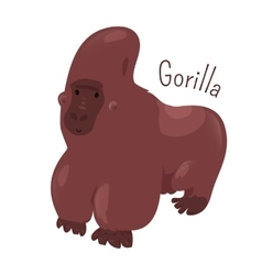 Gorilla isolated Child fun pattern icon vector