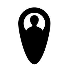 Gps tracker icon male user person profile avatar vector
