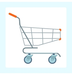 Grocery cart on wheels vector