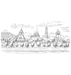 Hand drawing moscow-5 vector