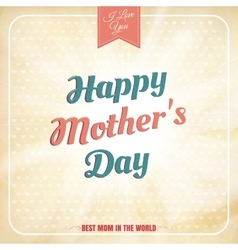 happy mothers day polka dot style eps 10 vector image