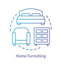 Home interior furnishing concept icon apartment vector